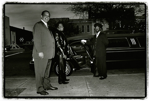 James Brown and his limo